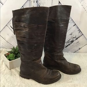 Enzo Angiolini distressed Leather Boots GUC